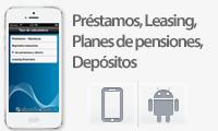 Calcula préstamos, leasing, depósitos y planes de pensiones con tu smartphone