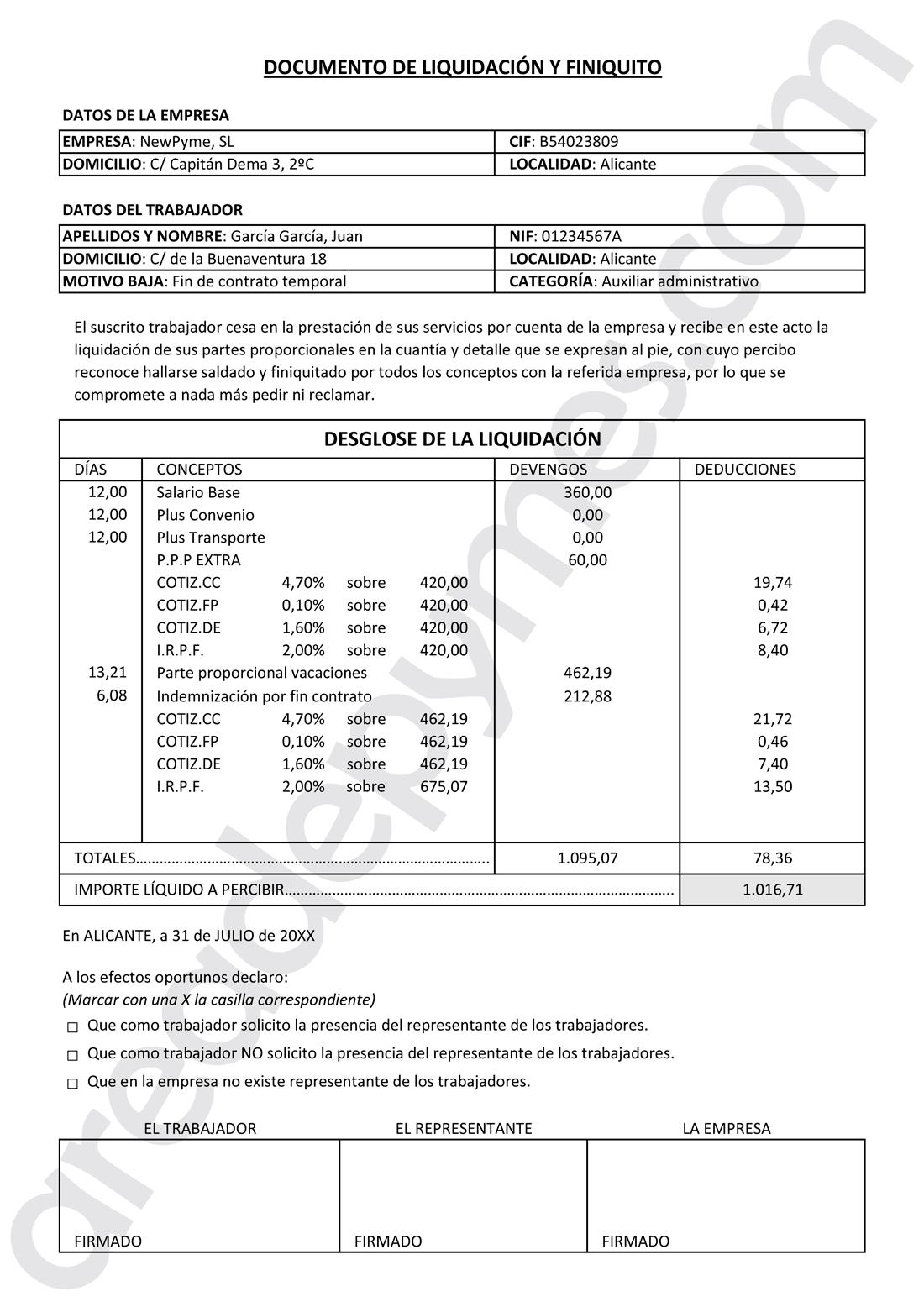 Cómo Entender Y Calcular Un Finiquito Paso A Paso área De Pymes