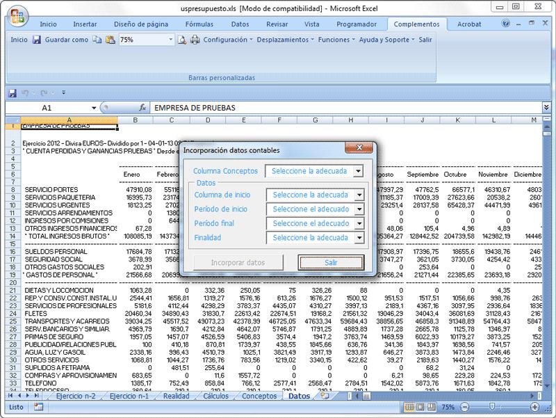 Elaboración del presupuesto anual de tesorería - Área de Pymes